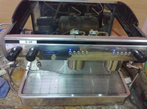 Expobar espresso makinası serviste iken